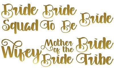 Bride Tribe Iron On T Shirt Transfer Bride Team Crew Squad To Be Hen Do VINYL