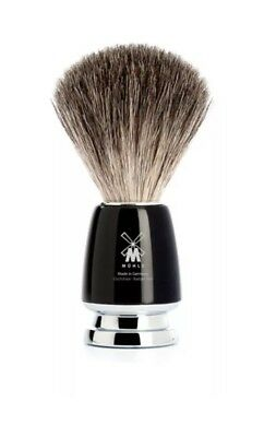 Muhle Rytmo Pure Badger Hair Shaving Brush with Black Resin Handle