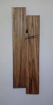 Rustic reclaimed pallet wood offset wall clock - unique / one of a kind
