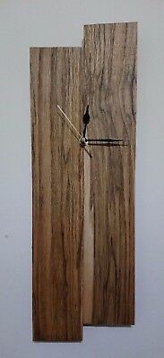 Rustic reclaimed pallet wood wall clock - 51.5x17x2.8cm - unique / one of a kind