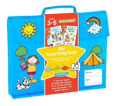 Gold Stars Pre school My Learning Bag Ages 3-5 (NEW)!!!