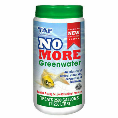 Tap NO MORE Greenwater Koi Fish Pond Green Algae Water Remover Treatment 1kg