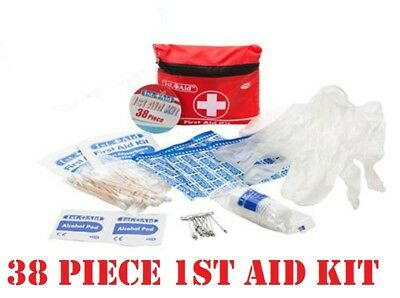 38P Mini Car Travel First Aid Kit Emergency Bike Home Medical Camping Office Bag