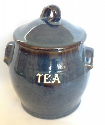 BHS Brecon Blue Tea Storage Jar and Lid