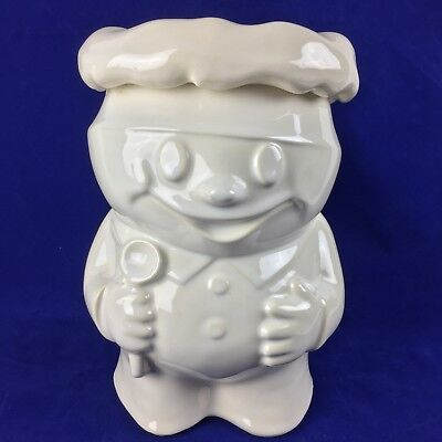 Vintage White McCoy Pottery Bobby the Baker Cookie Jar Doughboy, Bobbie Baker