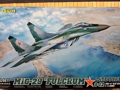 "G.W.H. great wall hobby 1/48  MiG—29 ""Fulcrum""  late typ  9—13"