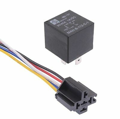 12V Automotive Changeover Relay 40A 5-Pin SPDT with Socket