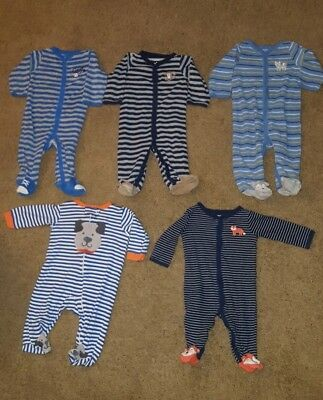 Carters boy sleepers lot 6 months