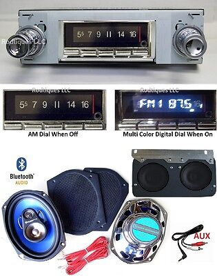 1964-67 GTO LeMans Tempest Bluetooth Stereo Radio + Dash + 6x9's  300 watt 740
