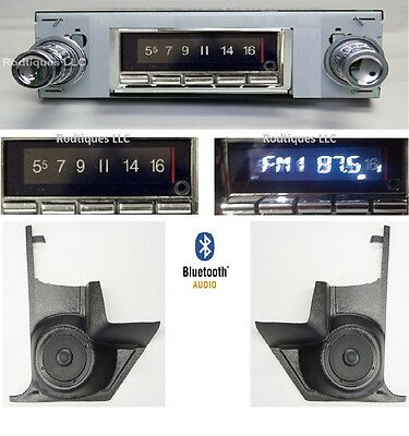 1967 GTO LeMans Tempest Bluetooth Stereo Radio + Kicks w/ Speakers w/ AC  740