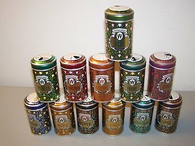 1987 Watkins Collector's Spice Tins - Set of 12 - New - Please Read