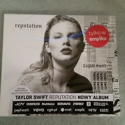 Taylor Swift - Reputation CD POLISH STICKERS NEW SEALED