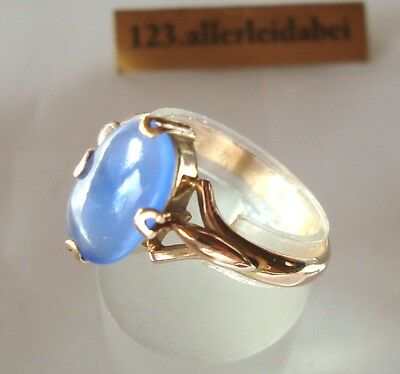 Wundervoller Russischer Tansanit Ring 583 Rotgold Gold  / AX 098