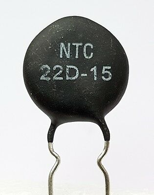 2 x NTC 22D-15 Inrush Current Limiter, Power Thermistor, 22 ohm, 3 Amp -ref:661