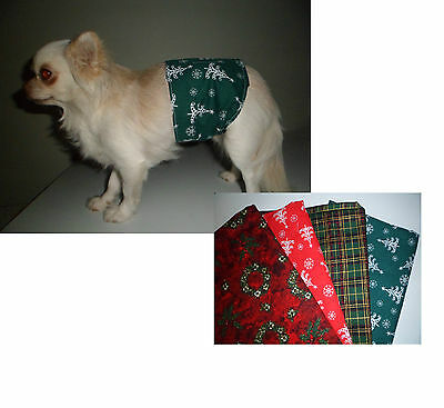 Xmas Male Dog Belly Bands for dog marking, all sizes, dipers nappies Christmas