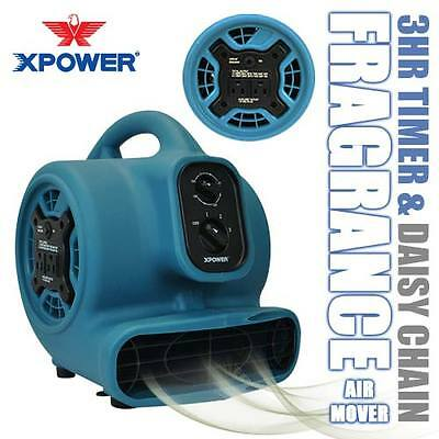 XPOWER P-250AT Freshen Aire Scented Air Mover Floor Fan Carpet Dryer Freshener