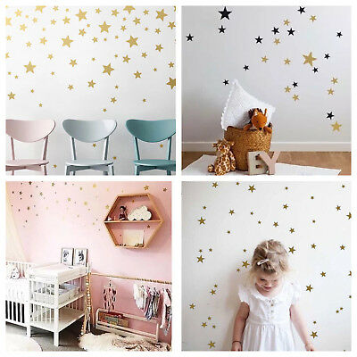 wandtattoo sterne 50 stk gold babyzimmer kinderzimmer aufkleber sternenhimmel eur 8 99. Black Bedroom Furniture Sets. Home Design Ideas