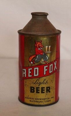 Red Fox Light Beer Can Dome top