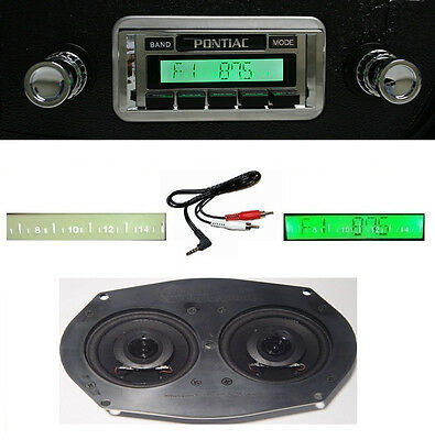 1964-67 GTO/LeMans/Tempest Radio w/ Dash Speaker +FREE Aux Cable + 230 Stereo **