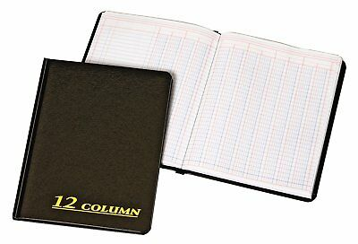 Adams Account Book 7x9.25 Inches Black 12 Columns 80 Pages Ledger Record Keeping