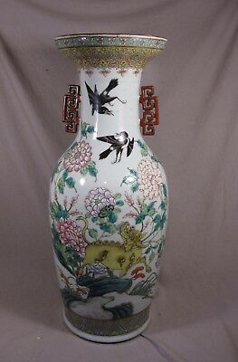 Large 62 rare decorated Chinese porcelain vase Deer and mystical beast TOP !