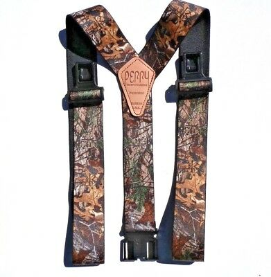 """2"""" RealTree XTRA Camouflage Suspenders - Perry Clips"""