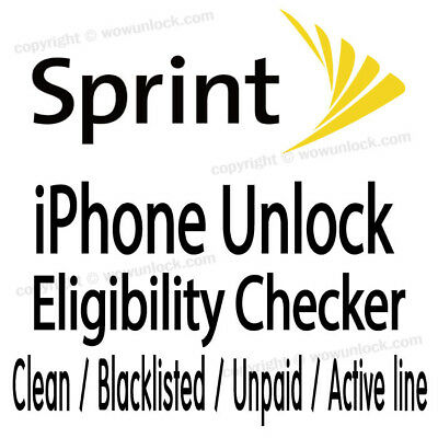 SPRINT IMEI CHECK SERVICE - ANY MODEL iPHONE SAMSUNG LG HTC ETC