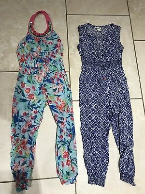 Girls Monsoon all in one trousers jump suit, size 7 years