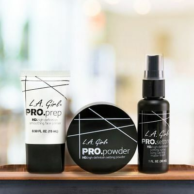L.A Girl Pro HD Smoothing Face Primer, Setting Spray & Setting Powder 3 pcs Set