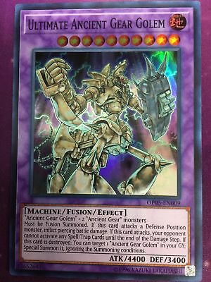 Yugioh Ultimate Ancient Gear Golem OP05-EN009 Unlimited Super Rare Near Mint