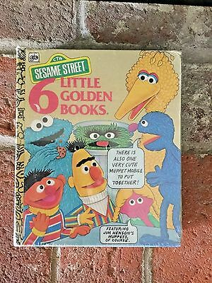 NEW SEALED VTG Sesame Street 6 Little Golden Books Set W/ Mobile 1978