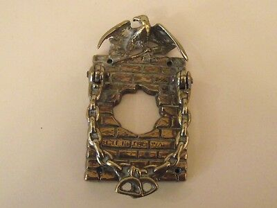 Vintage Hole In The Wall Brass Door Knocker With Eagle