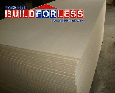 5 x Sheets Standard MDF Boards 1220mm x 2440mm x ( 9mm / 12mm / 18mm / 25mm )