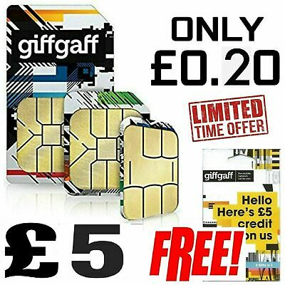 Giffgaff Giff Gaff SIM Card for Tracker, Smart watch, GSM, 2G, Pet, Elderly