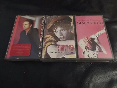 Simply Red - A New Flame,picture Book,greatest Hits - Cassette Tape
