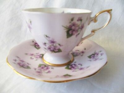 Royal Standard Cup Saucer - Lavender Ground - Violets Pattern