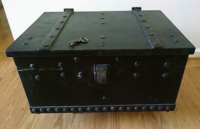 Huge and Heavy! Vintage Eduard Gartner Cast Iron 1843 Bank Vault Safe