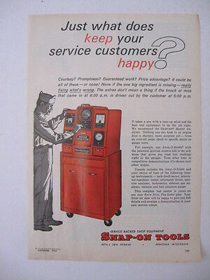 1963 Snap-On Tools ANAL-O-SCOPE MASTER ANALYZER Auto Tune-Up Page Print Ad