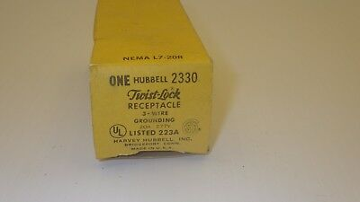 Hubbell 2330 Twist Lock Receptacle 3 Wire Grounded 20A 277V~Nib