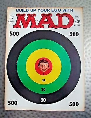 Vintage Mad Magazine #71 June, 1962, Famous Newman Target cover, Very Fine +