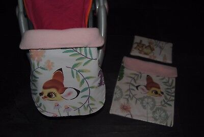 mat character pink white aristocats baby pram stay put blanket or changing bag