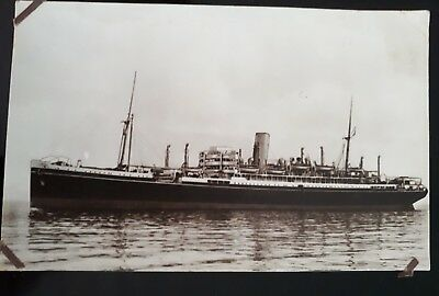 Rare Vintage C1920 Aberdeen Commonwealth Shipping Line Postcard Photograph