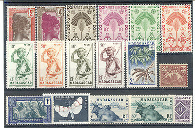 Madagascar - Nice Lot of French Colonies Stamps MNH**