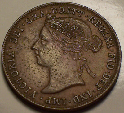 British East Africa Protectorate 1897 Victoria Pice. 640,000 Mintage.