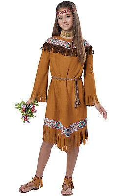 Brand New Classic Indian Girl Pocahontas Native American Child Costume