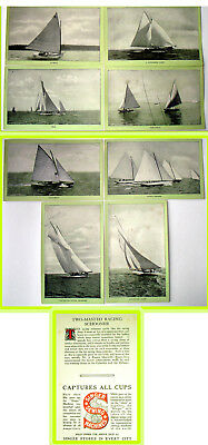 8 Large Singer Sewing Machines Photo Cards 1896 - 1904 Boats