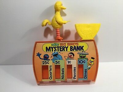 Vintage Ideal1986 Sesame Street Big Bird's Mystery Bank/Coin Sorter