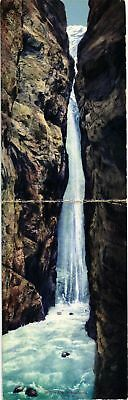 Dr Jim Stamps Waterfall Lutchinenschlucht Panorama Fold Out Postcard
