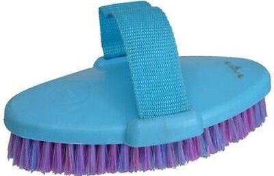Grooming Body Brush Horse Dog Cow Cat ~ With Strap ~ SET OF 6 IN BLUE