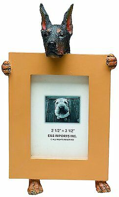 Doberman Pinscher Black Dog Picture Photo Frame